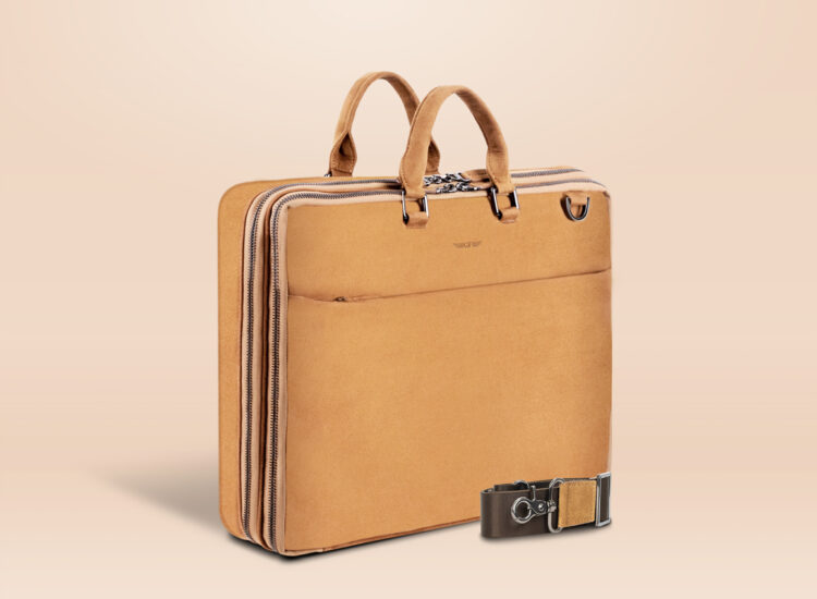 Alfonso Corporate Laptop Bag Brown Perspective