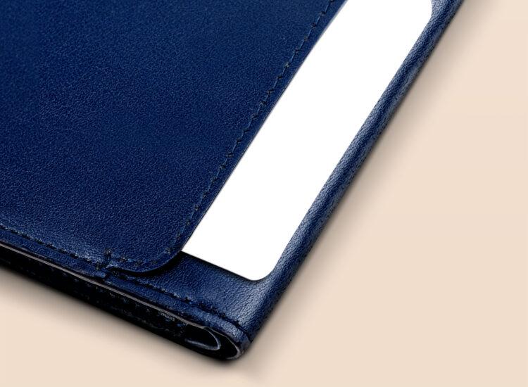 Alfonso Slim Plus Wallet Navy Quick Access Slot