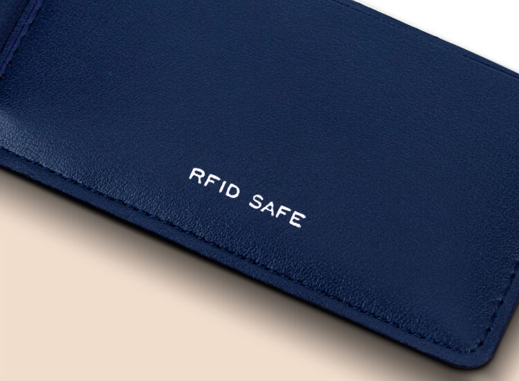 Alfonso Slim Plus Wallet Navy RFID Safe