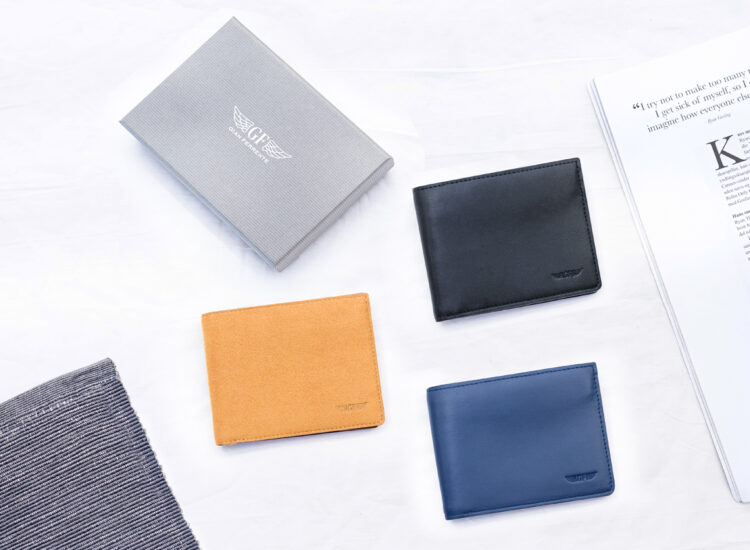 Alfonso Slim Plus Wallet Navy With Packaging