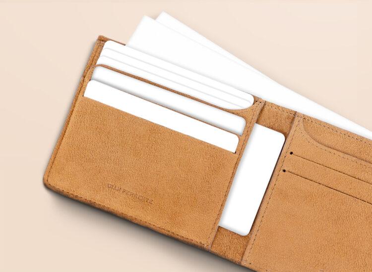 Alfonso Slim Wallet Brown Card Slots
