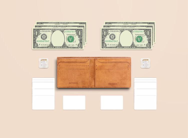 Alfonso Slim Wallet Brown Functionality