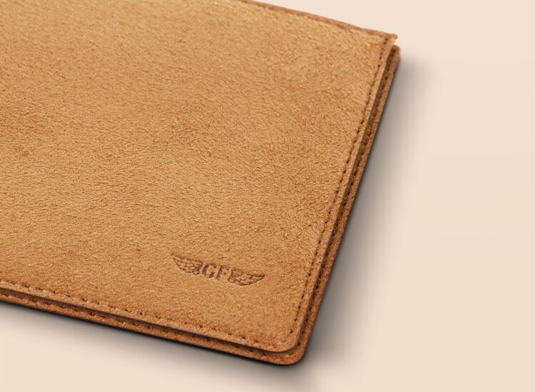Alfonso Slim Wallet Brown Leather Details
