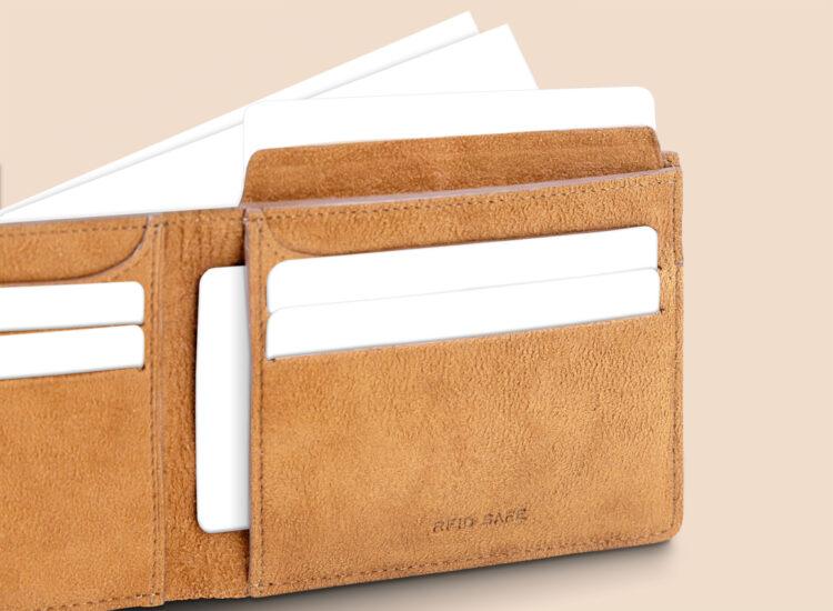 Alfonso Slim Wallet Brown Secret Compartment