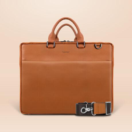 Berto Corporate Laptop Bag Brown Front