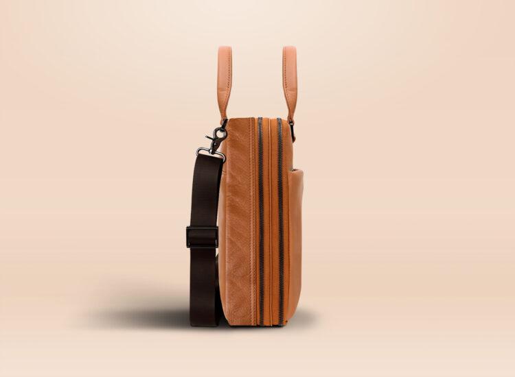 Berto Corporate Laptop Bag Brown Side