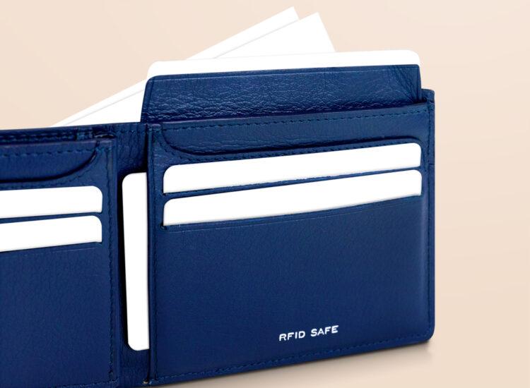 Berto Slim Plus Wallet Navy Id Flap