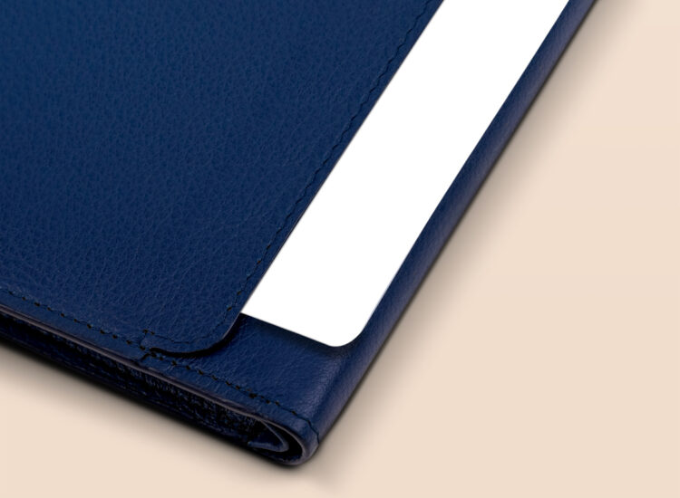 Berto Slim Plus Wallet Navy Quick Access Slot