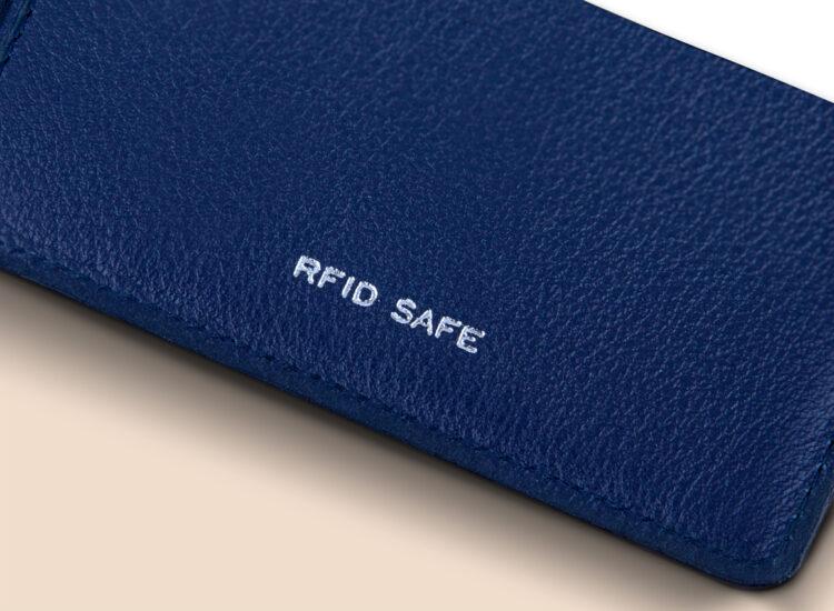 Berto Slim Plus Wallet Navy RFID Safe
