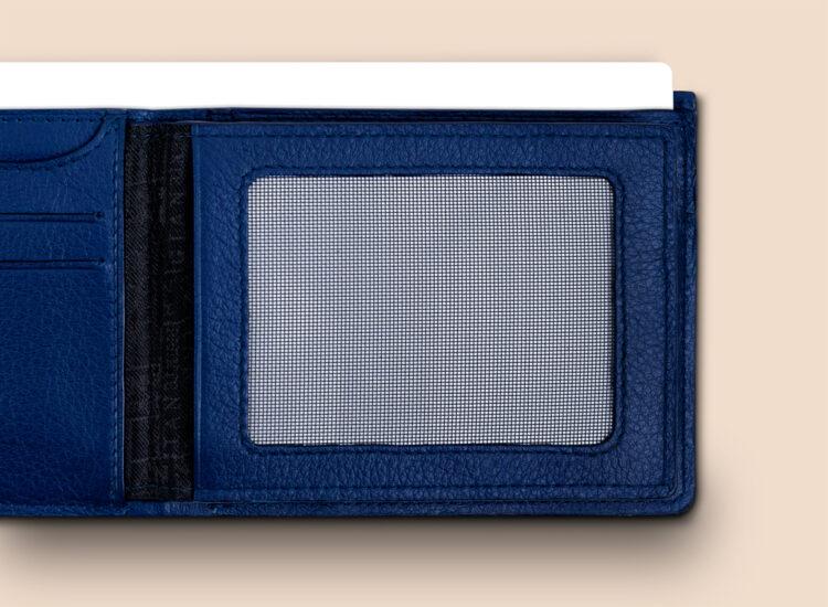 Berto Slim Plus Wallet Navy Secret Compartment