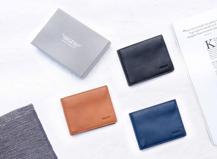 Berto Slim Plus Wallet Navy With Packaging