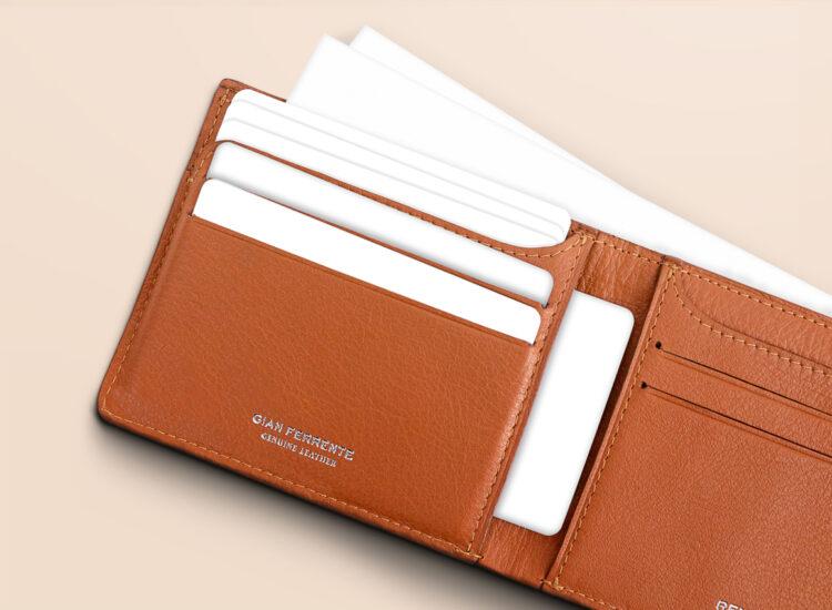 Berto Slim Wallet Brown Card Slots