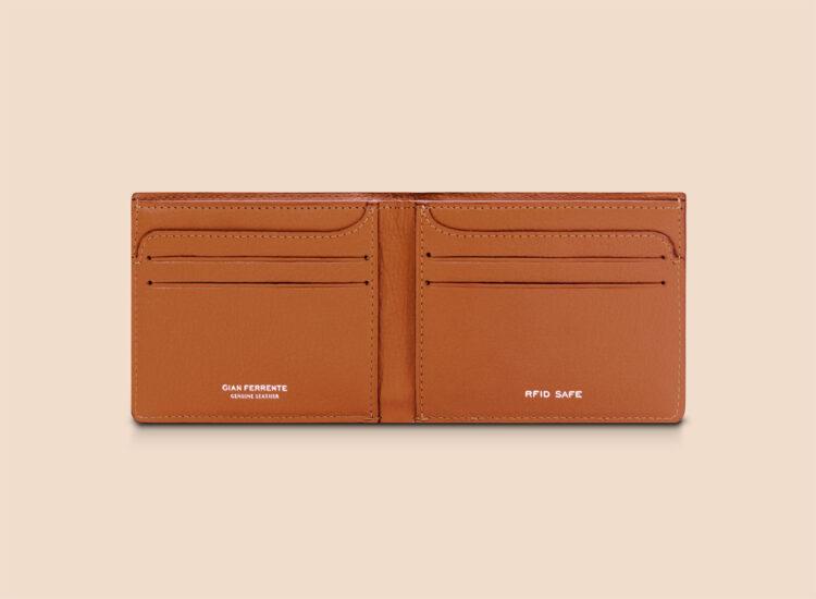 Berto Slim Wallet Brown Inside