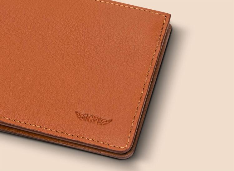 Berto Slim Wallet Brown Leather Details