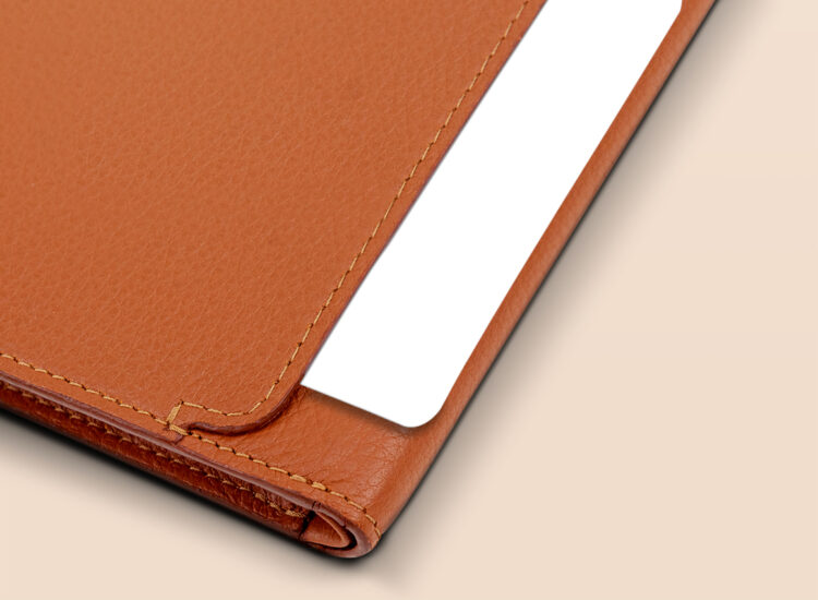 Berto Slim Wallet Brown Quick Access Slot