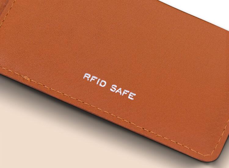 Berto Slim Wallet Brown RFID Safe