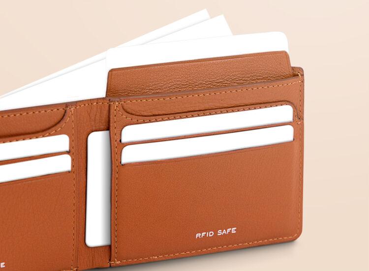 Berto Slim Wallet Brown Secret Compartment