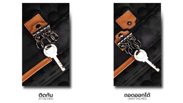 Corporate Laptop Bag Removable Key Ring