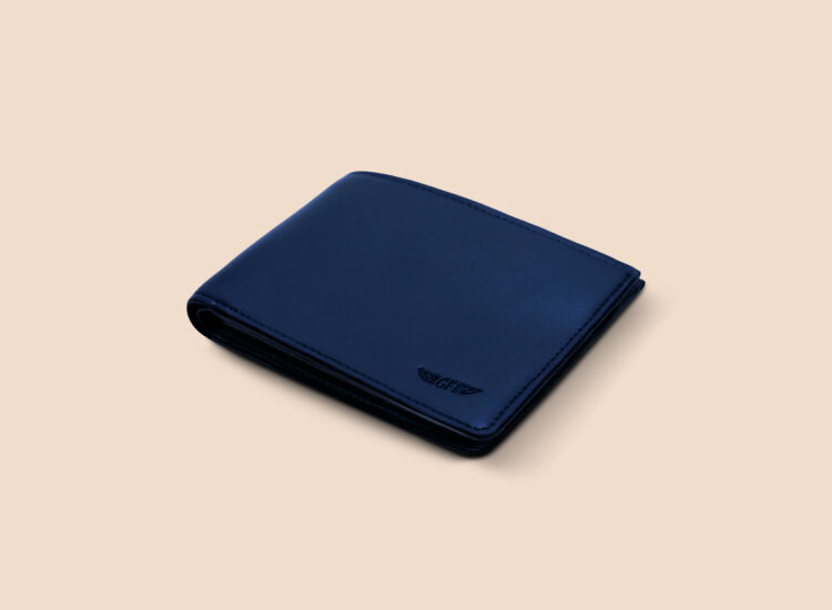 Alfonso Slim Plus Wallet Navy Front