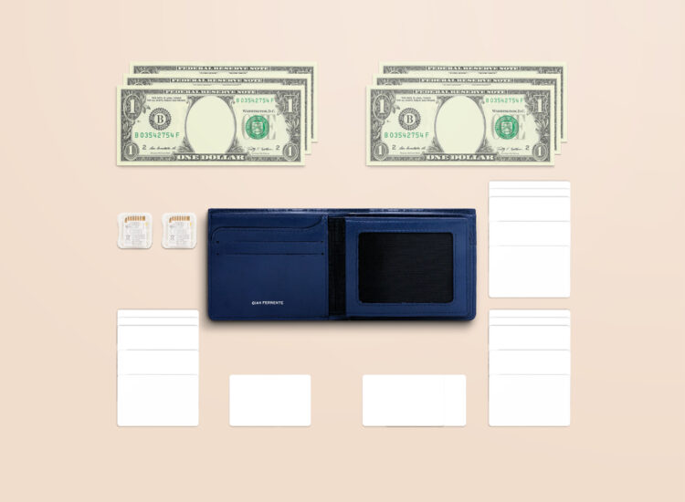 Alfonso Slim Plus Wallet Navy Functionality