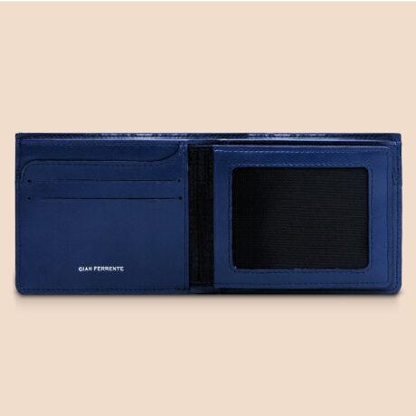 Alfonso Slim Plus Wallet Navy Inside