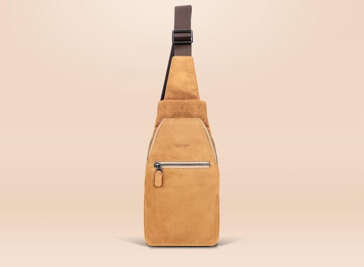 Alfonso Urban Sling Bag Brown Front