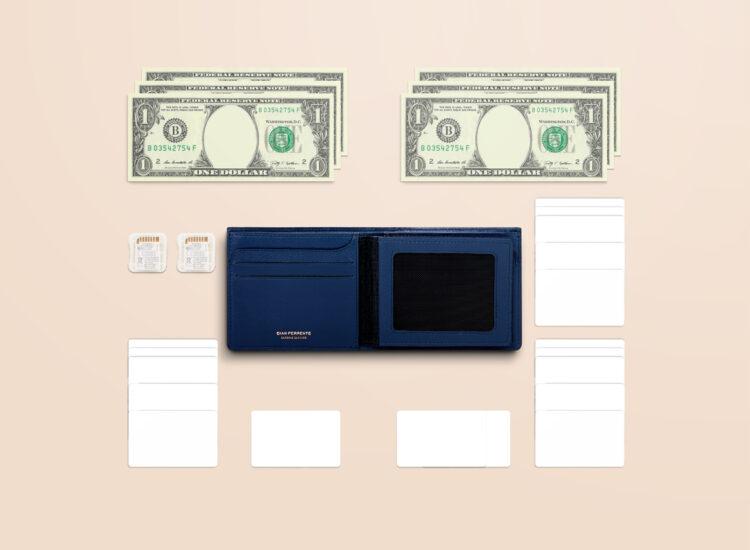 Berto Slim Plus Wallet Navy Functionality
