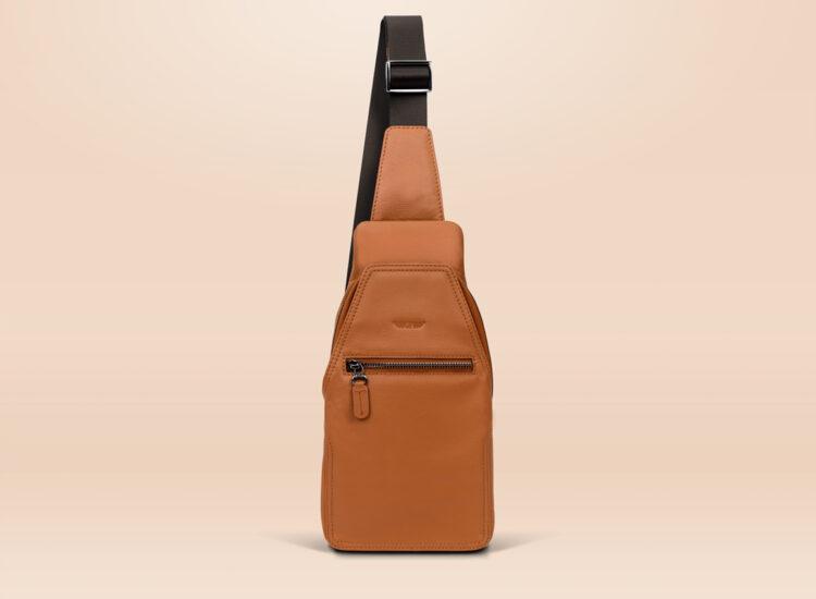 Berto Urban Sling Bag Brown Front