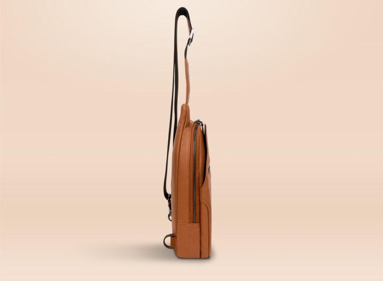 Berto Urban Sling Bag Brown Side