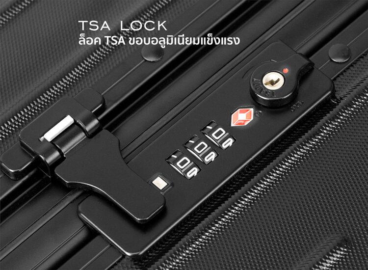 777879 Luggage Travel TSA Approved Black Handle