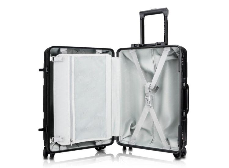 78 Luggage Travel TSA Approved Black Inside