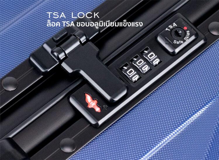 808182 Luggage Travel TSA Approved Blue Handle