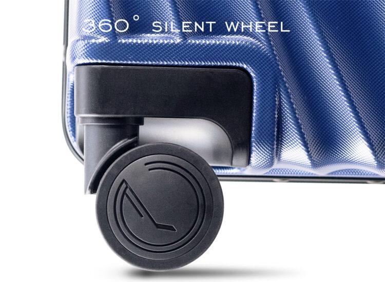 808182 Luggage Travel TSA Approved Blue Wheel
