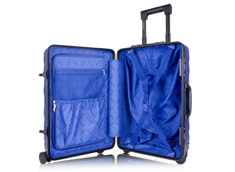 81 Luggage Travel TSA Approved Blue Inside