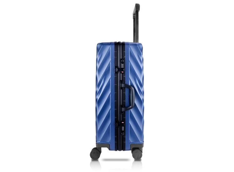 81 Luggage Travel TSA Approved Blue Side