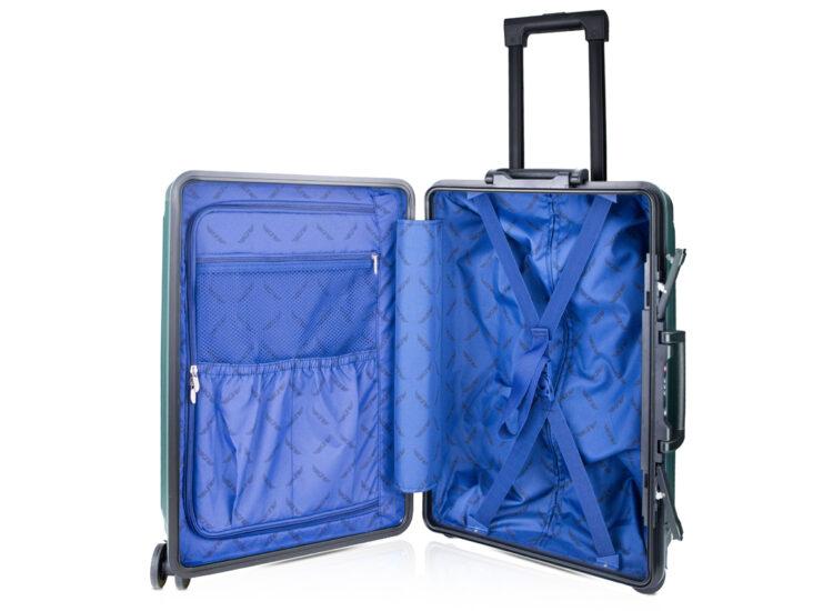 84 Luggage Travel TSA Approved Green Inside