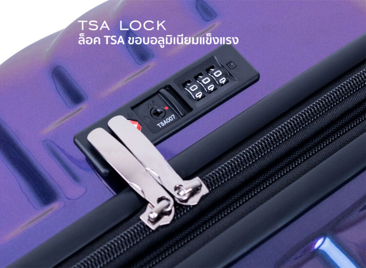 868788 Luggage Travel TSA Approved Navy Handle