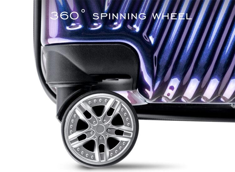 868788 Luggage Travel TSA Approved Navy Wheel