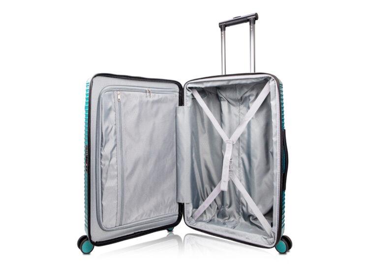 90 Luggage Travel TSA Approved Green Inside