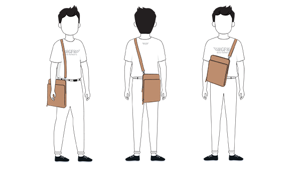 How To Wear Universal Tablet IPad Bag