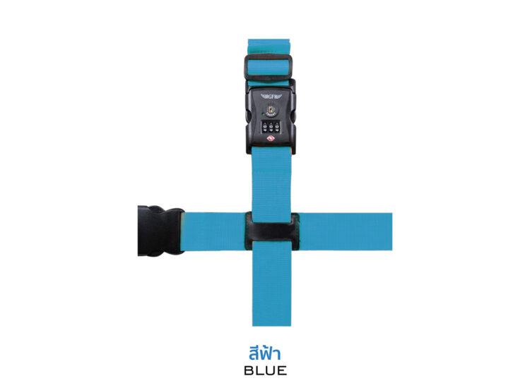 Essential Cross Luggage Strap Suitcase Belts Adjustable Blue