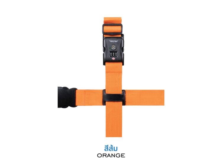 Essential Cross Luggage Strap Suitcase Belts Adjustable Orange