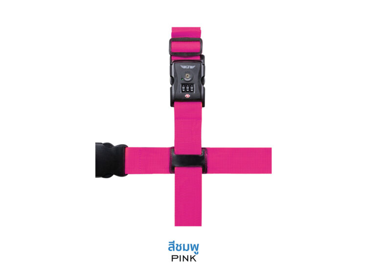 Essential Cross Luggage Strap Suitcase Belts Adjustable Pink