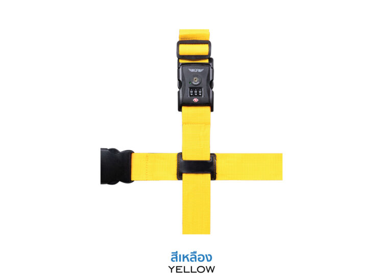 Essential Cross Luggage Strap Suitcase Belts Adjustable Yellow