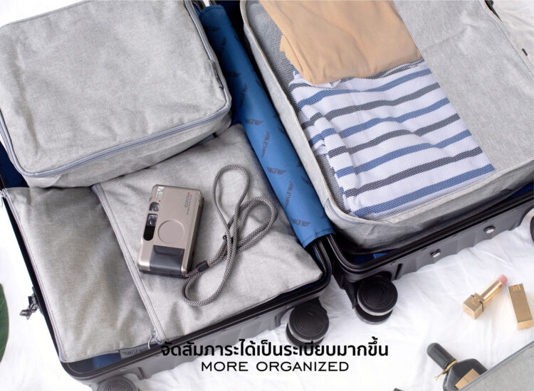 Essential Luggage Set Packing Cubes Organizer For Travel Foldable