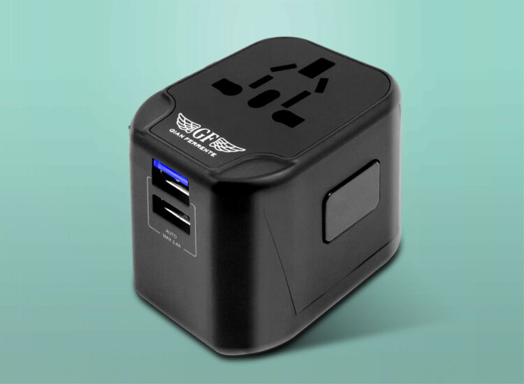 Essential Travel Adapter Plug Converter USB Charge Replacable Fuse Main