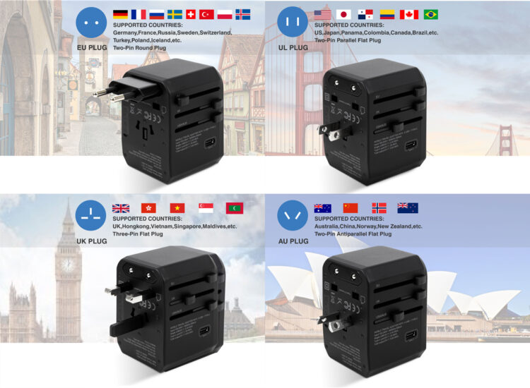 Essential Travel Adapter Plug Converter USB Type C Charge Worldwide