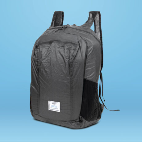Essential Travel Packable Backpack Black scaled
