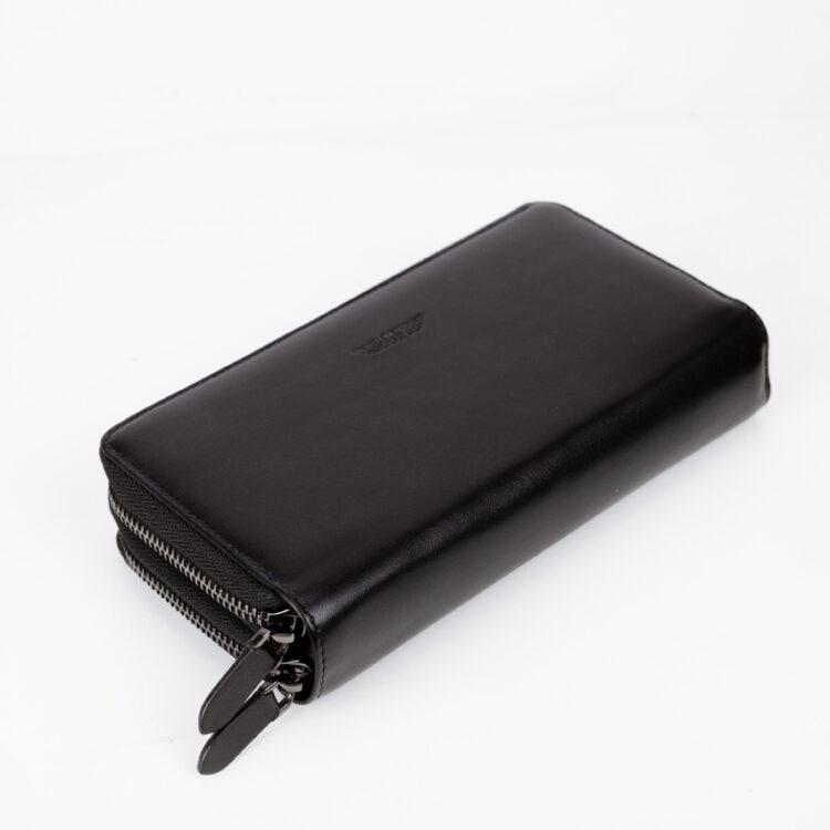 Promo Mitg Long Zipper Plus Wallet Black Front