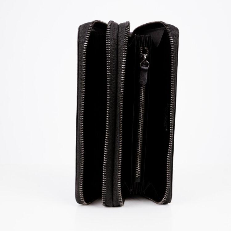 Promo Mitg Long Zipper Plus Wallet Black Inside